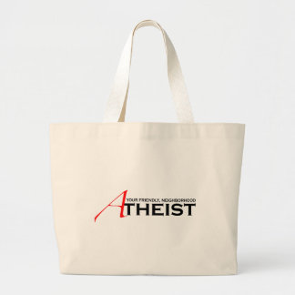 Friendly Neighborhood Atheist Jumbo Tote Bag