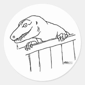 Friendly Neighborhood Dinosaur Classic Round Sticker