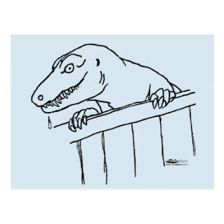 Friendly Neighborhood Dinosaur Postcard