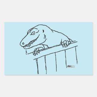 Friendly Neighborhood Dinosaur Rectangular Sticker