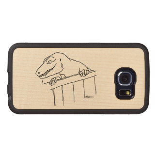 Friendly Neighborhood Dinosaur Wood Phone Case