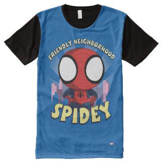 Friendly Neighborhood Spidey Mini Spider-Man All-Over-Print Shirt