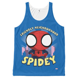 Friendly Neighborhood Spidey Mini Spider-Man All-Over-Print Tank Top