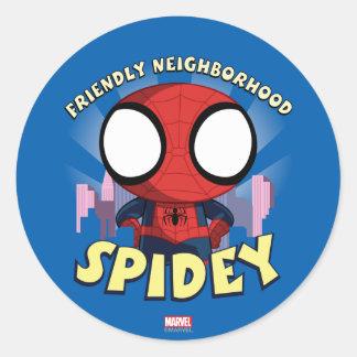 Friendly Neighborhood Spidey Mini Spider-Man Classic Round Sticker