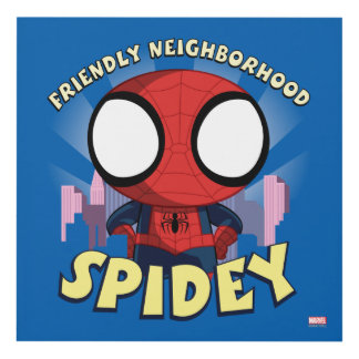 Friendly Neighborhood Spidey Mini Spider-Man Panel Wall Art