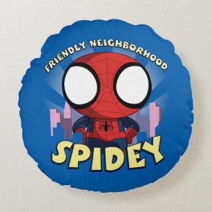Friendly Neighborhood Spidey Mini Spider-Man Round Pillow