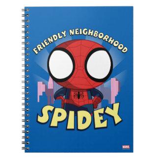 Friendly Neighborhood Spidey Mini Spider-Man Spiral Notebook