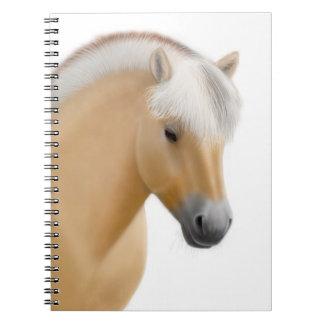Friendly Norwegian Fjord Horse Notebook