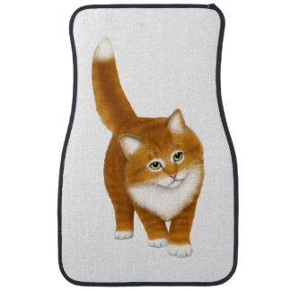 Friendly Orange Tabby Cat Auto Floor Mats Car Mat