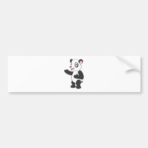 Friendly Panda Bumper Stickers