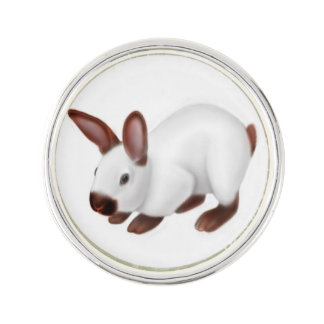 Friendly Pet Bunny Rabbit Lapel Pin