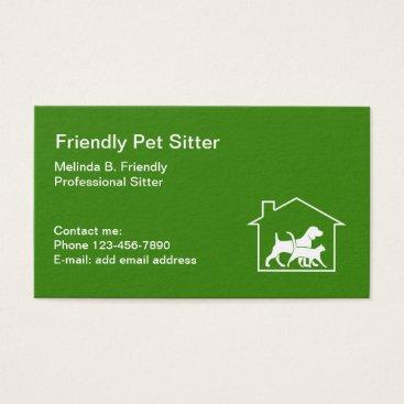 Friendly Pet Sitter Business Card