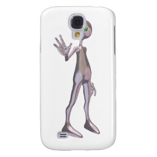 Friendly Pink Alien Samsung Galaxy S4 Cover