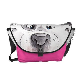 Friendly Pit Bull Messenger Bag