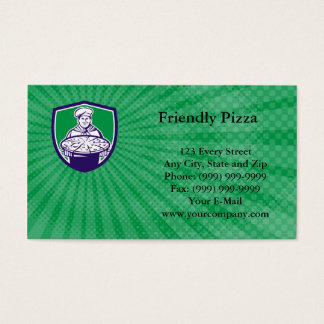 Friendly Pizza Business Card