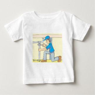 Friendly Plumber Cartoon Baby T-Shirt