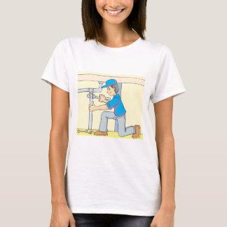 Friendly Plumber Cartoon T-Shirt