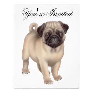 Friendly Pug Dog Invitation
