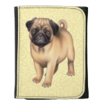 Friendly Pug Dog Leather Wallet