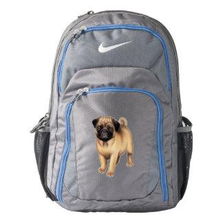 Friendly Pug Dog Nike Backpack
