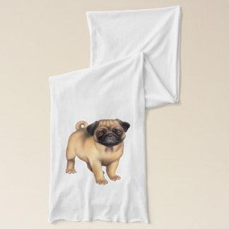 Friendly Pug Dog Scarf