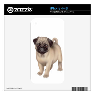 Friendly Pug Dog Zazzle Skin Decal For The iPhone 4S