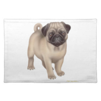 Friendly Pug Puppy Placemat