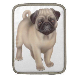 Friendly Pug Puppy Rickshaw iPad Sleeve