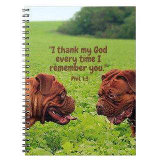 Friendly Pugs - Thinking of You Notebook/Journal Spiral Notebook