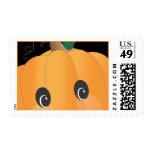 Friendly Pumpkin Autumn Halloween Postage