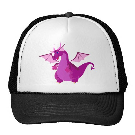 Friendly Purple and Pink Dragon Trucker Hat