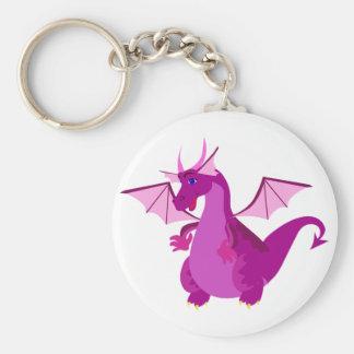 Friendly Purple and Pink Dragon Keychain