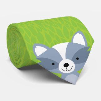 Friendly Raccoon - Woodland Friends Tie
