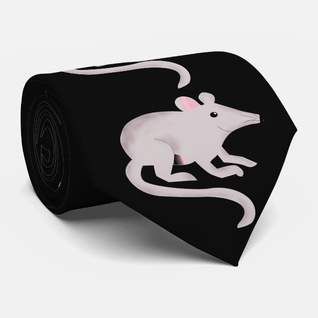 Friendly Rat Gray and Black Tie