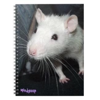 friendly rat spiral notebook
