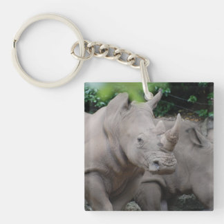 Friendly Rhino Keychain