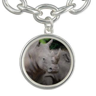 Friendly Rhino Charm Bracelet