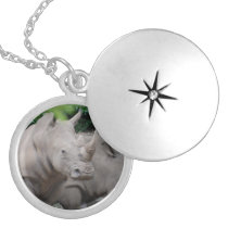 Friendly Rhino Silver Plated Necklace