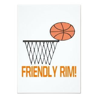Friendly Rim 5x7 Paper Invitation Card