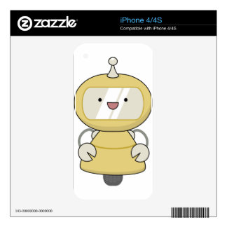 Friendly Robot Decals For The iPhone 4S