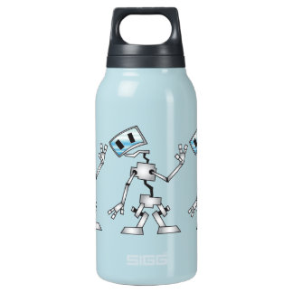 Friendly Robot Insulated Water Bottle