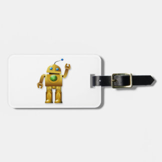 Friendly Robot Luggage Tags