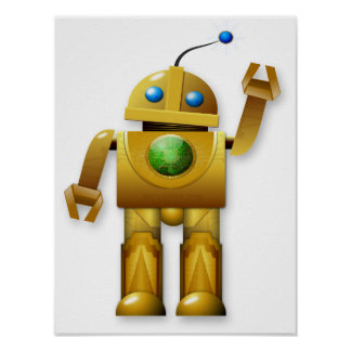 Friendly Robot Poster