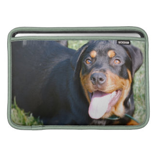 "Friendly Rottweiler 11"" MacBook Sleeve"