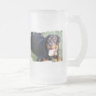 Friendly Rottweiler Beer Mug