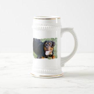 Friendly Rottweiler Beer Stein Mug