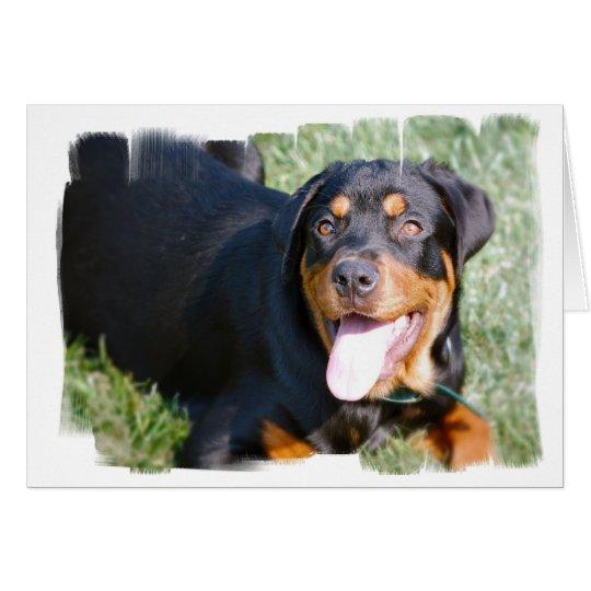 Friendly Rottweiler Greeting Card