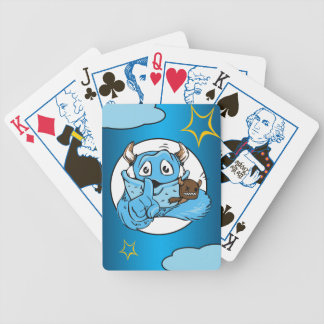 Friendly Shush Monster Bicycle Playing Cards