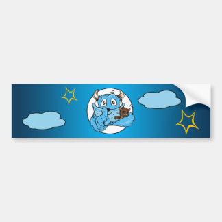 Friendly Shush Monster Bumper Sticker