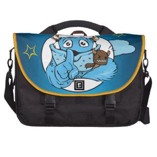 Friendly Shush Monster Laptop Messenger Bag